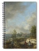 A Dune Landscape With A River And Many Figures Spiral Notebook