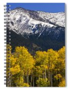 A Dusting Of Snow On The Peaks Spiral Notebook