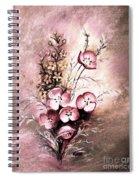A Dusty Rose Bouquet Spiral Notebook