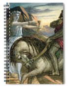 A Fairy And A Knight Spiral Notebook
