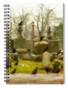 A Fall Gathering Of Crows Spiral Notebook
