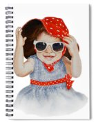 A Fashion Girl  Spiral Notebook