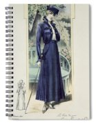A Fashionable French Lady Spiral Notebook