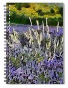 A Field Of Lavender Spiral Notebook