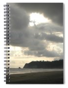A Figure Strolls Along The Beach, Playa Spiral Notebook