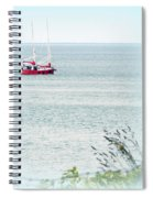 A Fine Day For A Red Boat Spiral Notebook