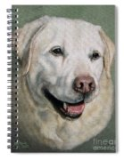 A Fine Old Lady Yellow Labrador Portrait Spiral Notebook
