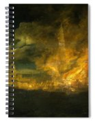 A Fire In The City Spiral Notebook