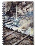 A Fleet Of Battleships Firing Spiral Notebook