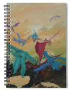 A Flight Of Dragons Spiral Notebook