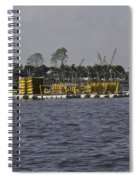 A Floating Platform With A Number Of Pipes Used For Construction Spiral Notebook
