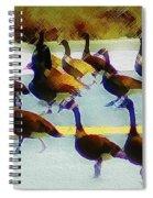 A Flock Of Geese Spiral Notebook