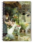 A Flower Market In Paris Spiral Notebook