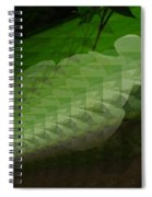 A Flower Repeating Itself Spiral Notebook