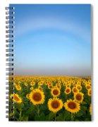 A Fog Bow Over The Colorado Sunflower Fields Spiral Notebook