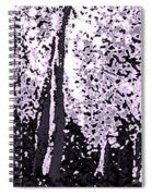 A Forest Silhouette Spiral Notebook