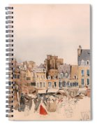 A French Market Place Spiral Notebook