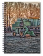 A Frosty John Deere Turbo 7700 Combine Spiral Notebook