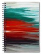 A Frozen Sunset Abstract Spiral Notebook