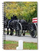 A Funeral In Arlington Spiral Notebook