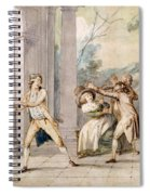 A Game Of Blind Mans Buff, C.late C18th Spiral Notebook