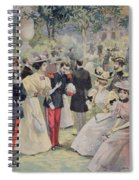 A Garden Party At The Elysee Spiral Notebook