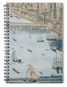 A General View Of The City Of London And The River Thames Spiral Notebook