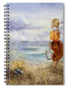 A Girl And The Ocean Spiral Notebook