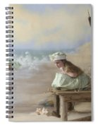 A Girl Posed By The Seashore Victoria Spiral Notebook