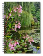 A Glimpse Of Monet's Pond At Giverny Spiral Notebook