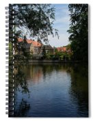 A Glimpse Through The Trees - Bruges Belgium Spiral Notebook