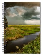 A Glow On The Marsh Spiral Notebook
