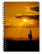 A Golden Southwest Sunset  Spiral Notebook