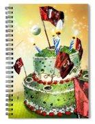 A Golfers Birthday Cake Spiral Notebook