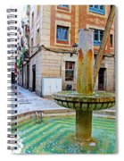 A Gothic Fountain Spiral Notebook