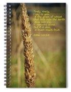 A Grain Of Wheat Spiral Notebook