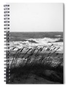 A Gray November Day At The Beach Spiral Notebook