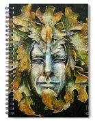 A Green Man Spiral Notebook