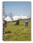 A Group Of Hikers In The Selkirk Spiral Notebook