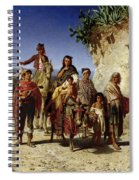 A Gypsy Family On The Road, C.1861 Oil On Canvas Spiral Notebook