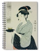 A Half Length Portrait Of Naniwaya Okita Spiral Notebook