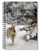 A Hare In The Snow Spiral Notebook