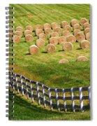 A Herd Of Hay Bales Spiral Notebook