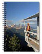 A Hiker Enjoys The View Spiral Notebook