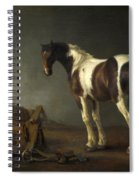 A Horse With A Saddle Beside It Spiral Notebook