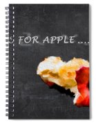 A Is For Apple Spiral Notebook