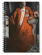 A Judge In Full Garments, Illustration Spiral Notebook