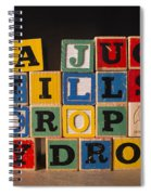 A Jug Fills Drop By Drop Spiral Notebook