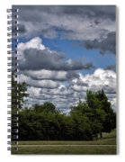 A July Cold Front Rolling By Spiral Notebook