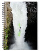 A Kayaker Takes The Plunge On Huge Spiral Notebook